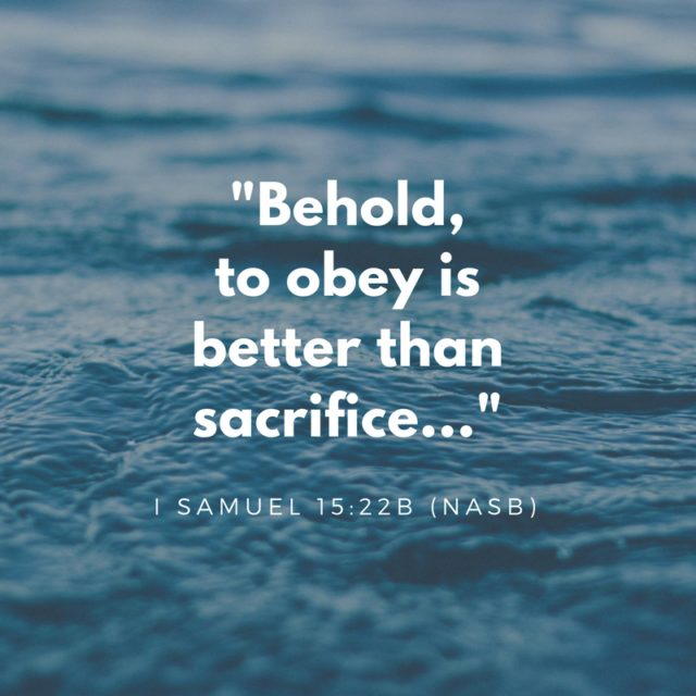 Obedience and Sacrifice
